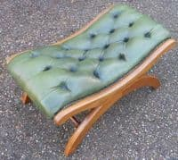 Leather Top Footstool